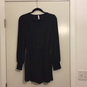 Long Sleeved Black Romper